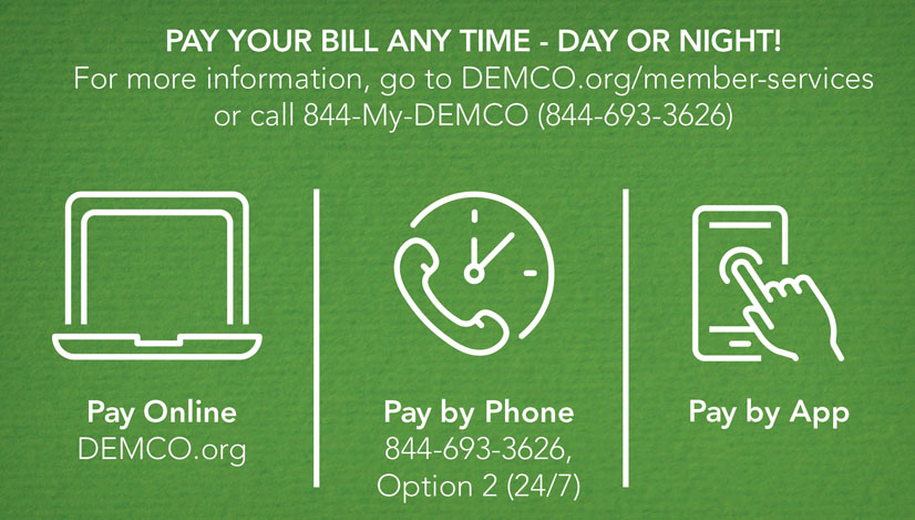 Pay your bill any time day or night.